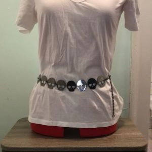 Zara skull metal fashion belt